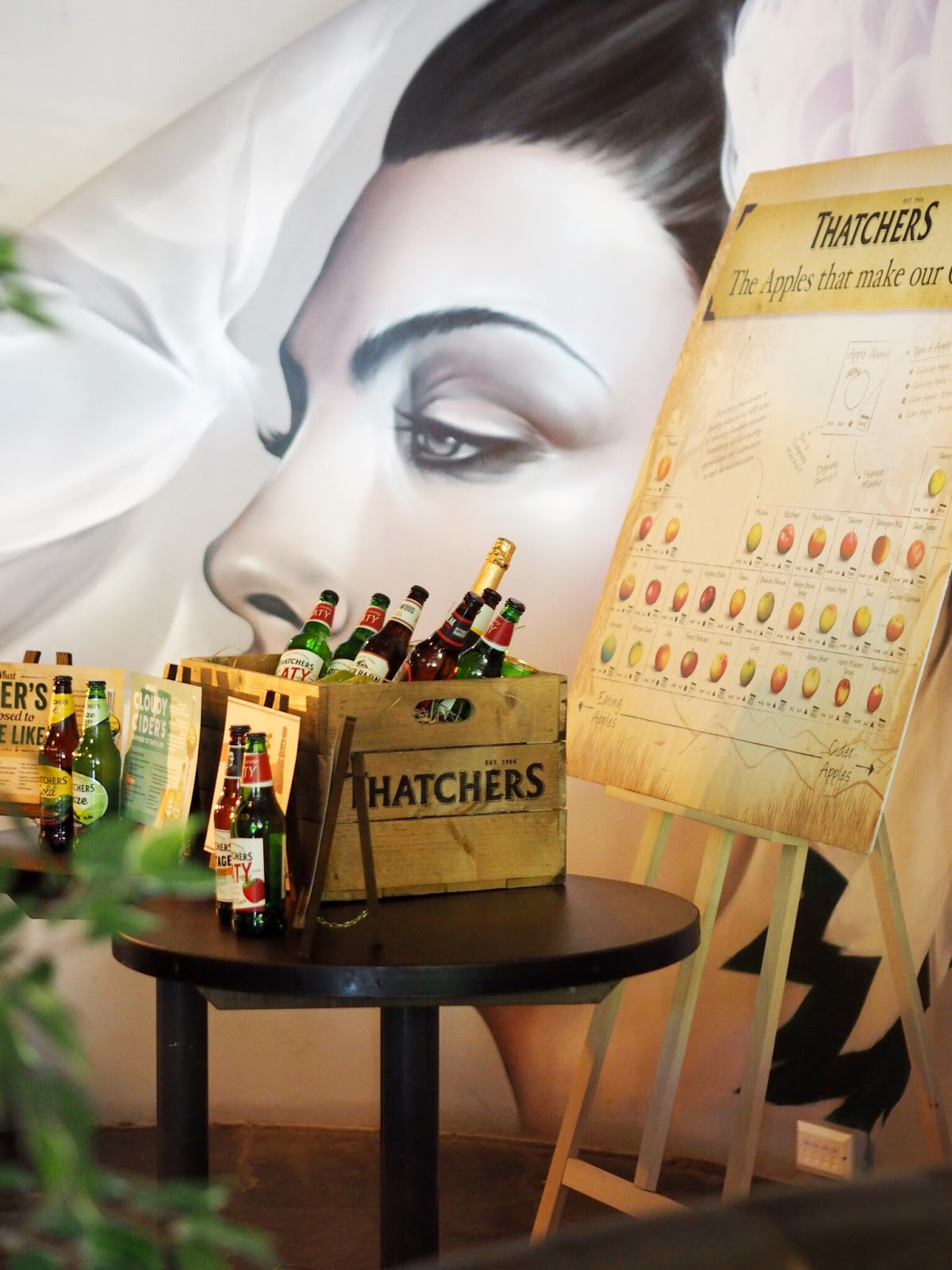 Thatchers Cider in crate infront of Pasture Jody Art Wall mural