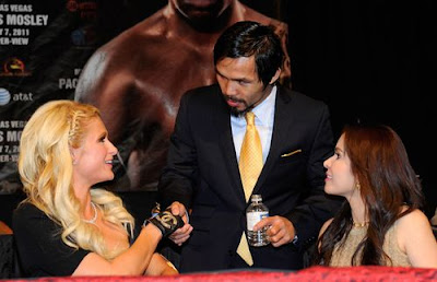 Paris Hilton photo with Manny Pacquiao and wife Jinkee
