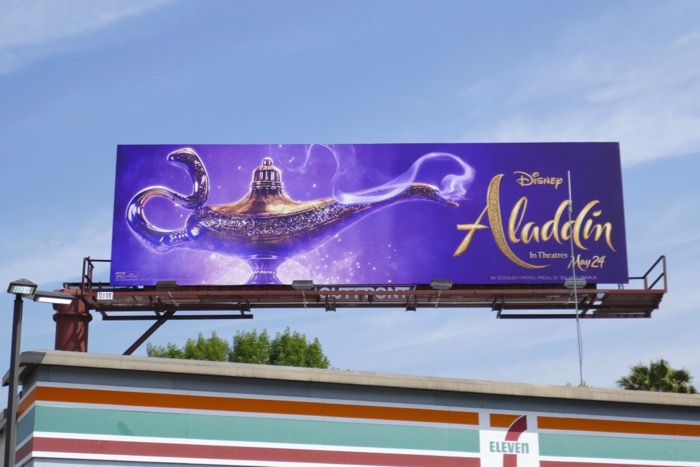 Aladdin Genie lamp billboard