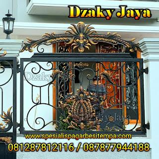 Foto pagar tempa klasik untuk pagar rumah mewah klasik 3