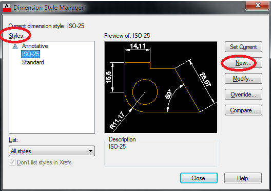 Using the Dimensions in AutoCAD
