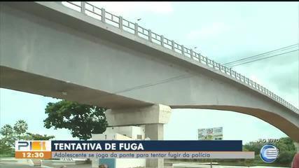 Adolescente pula de ponte durante abordagem policial no Piauíd