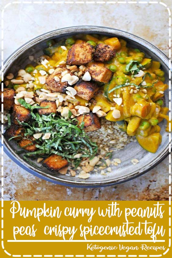 Pumpkin Curry with Crispy Tofu  The Pig  Pumpkin curry with peanuts peas  crispy spicecrusted tofu