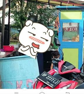 Vario Warna merah di gondol maling di Parkiran di depan Warung sekop Laut dabok Singkep