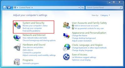 Nonaktifkan Windows Firewall 3