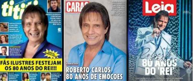 A cobertura das comemorações do aniversário do Roberto Carlos foi destaque nos meios de comunicação.