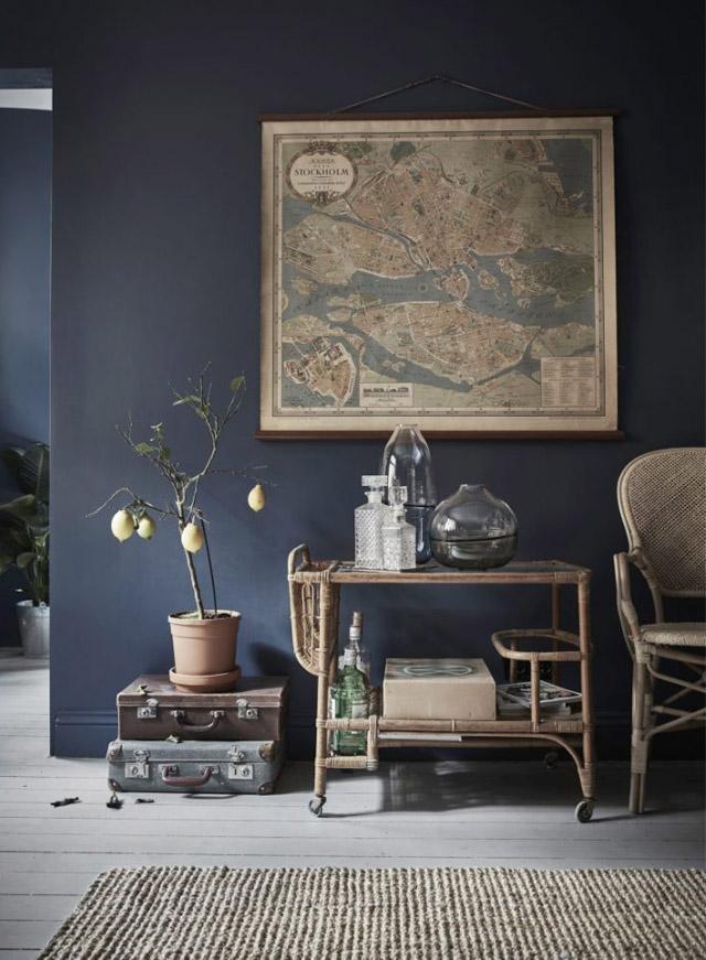 tendance murs noirs pour petits espaces