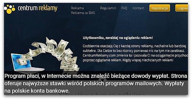 Zarobki w CentrumReklamy (wypłacalne strony, czytanie maili, oglądanie reklam,ankiety)