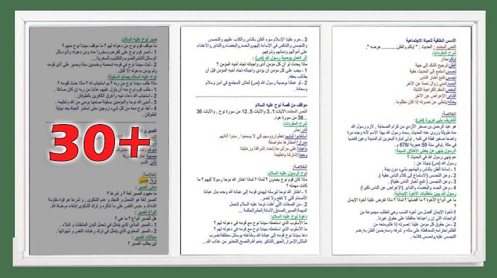 ملخصات التربية الاسلامية للسنة الثالثة متوسط
