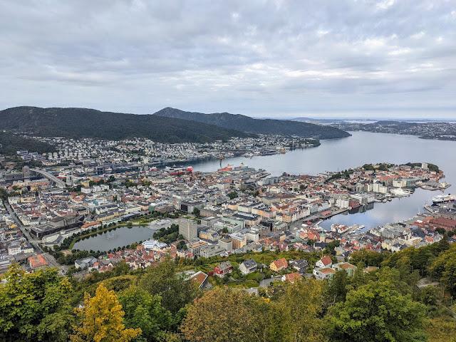 Views from Floibanen Bergstation in Bergen Norway