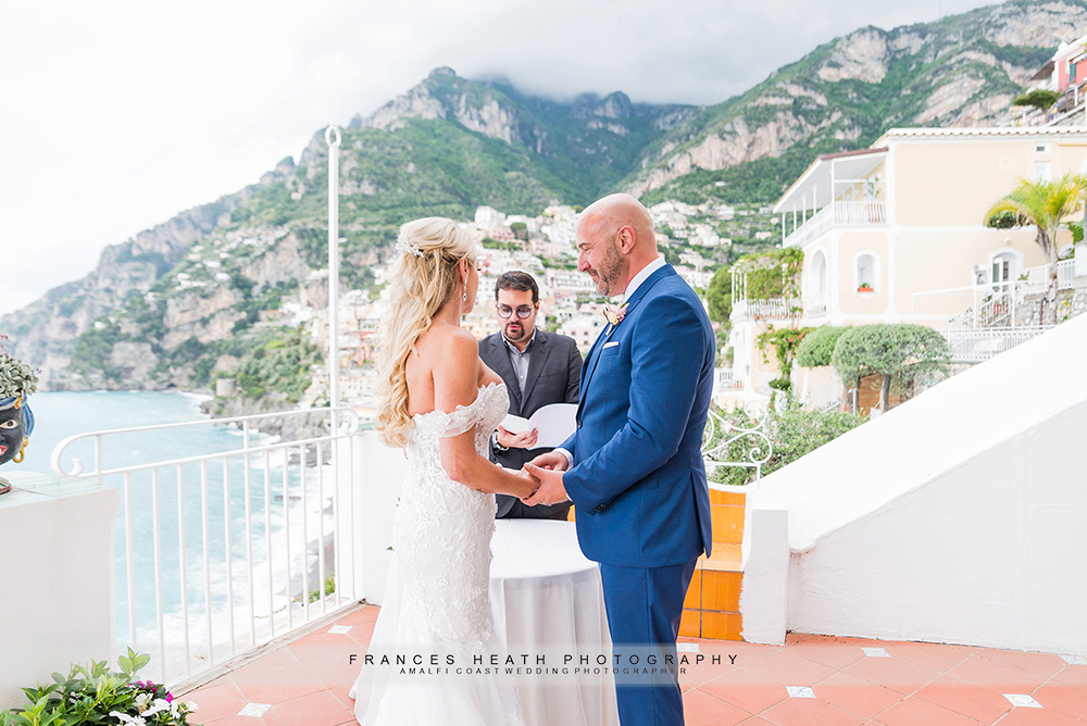 Wedding ceremony at hotel Marincanto