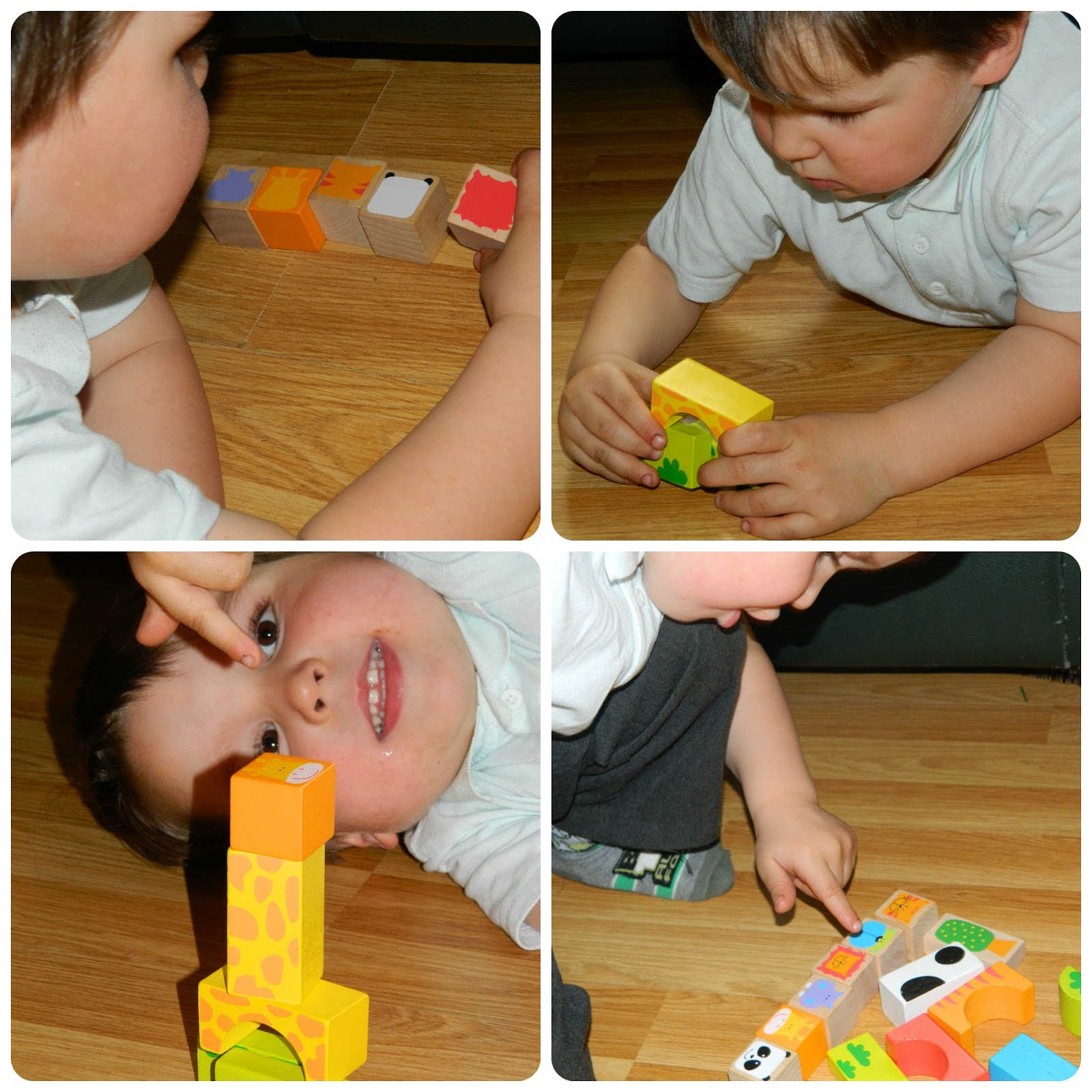Learning Through Play With Bigjigs Wooden Safari Animal Building Blocks Play Patrol