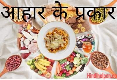 आहार क्या है आहार के प्रकार