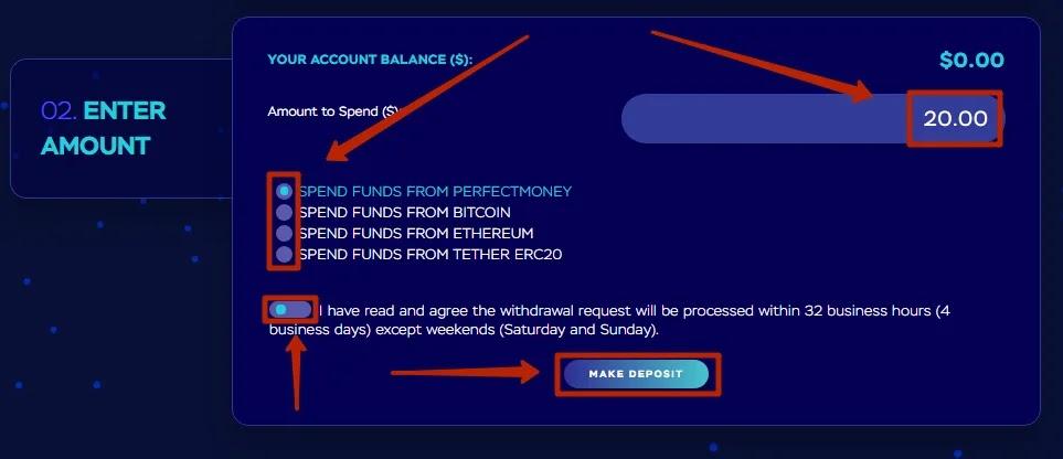 Пополнение баланса в CryptoRoad 2