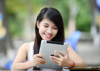 Image: Girl on iPad, by Jess Foami on Pixabay