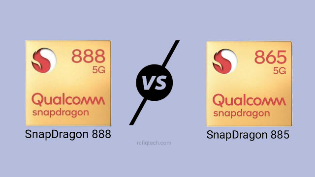 مقارنة معالج كوالكوم سناب دراجون 888 مع  سناب دراجون 865