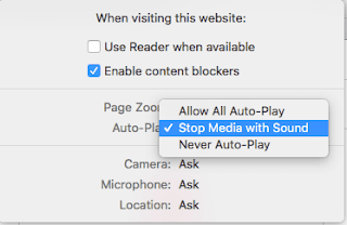 Disable Video auto-play in with safari in macOS High Sierra