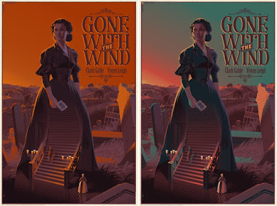 Gone with the Wind Screen Prints by Laurent Durieux x Dark Hall Mansion