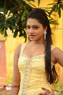 Actress Bannisha Pictures in Yellow Dress at Lovers Park Movie Opening  0007
