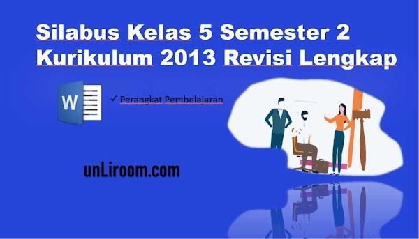 Silabus Kelas 5 Semester 2 Kurikulum 2013