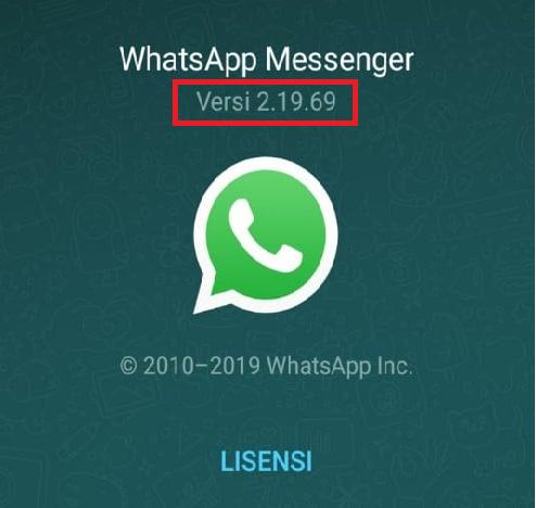 Gunakan Versi WhatsApp Terbaru