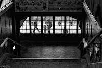 subway station Eberswalder Straße Berlin black white street photography