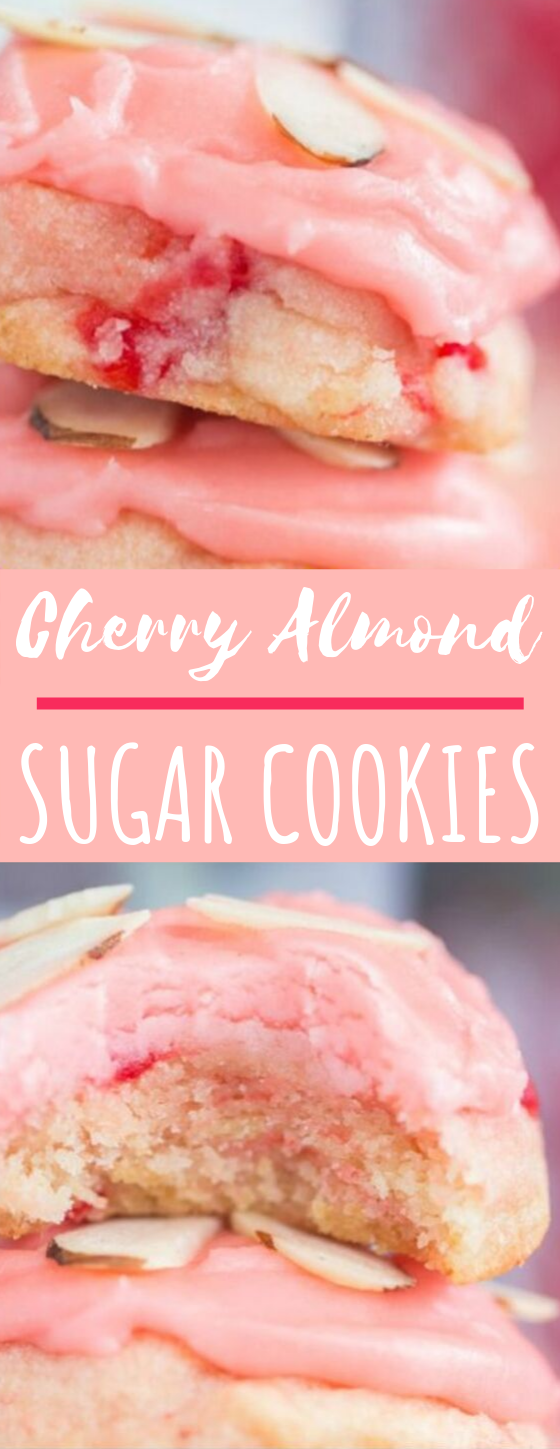 Cherry Almond Amish Sugar Cookies #cookies #desserts