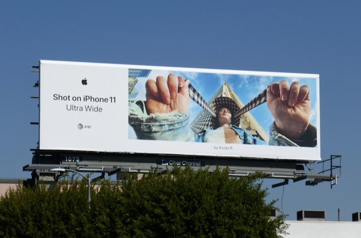 Shot on iPhone 11 Ultra Wide Kunjo R billboard