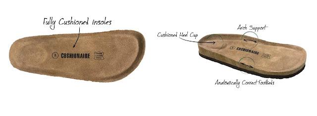 CUSHIONAIRE Women's Lane Cork Footbed Sandal review