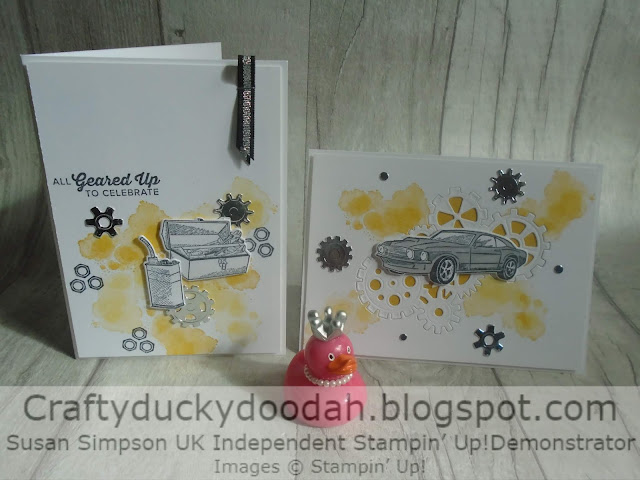 Craftyduckydoodah!, Stampin' Up! UK Independent  Demonstrator Susan Simpson, Geared Up Garage, Male Cards, Supplies available 24/7 from my online store,