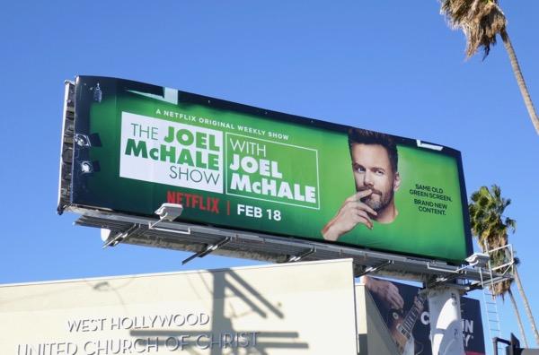 Joel McHale Show billboard