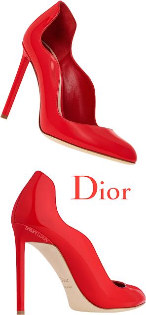 Red Dior Wave Pumps #brilliantluxury