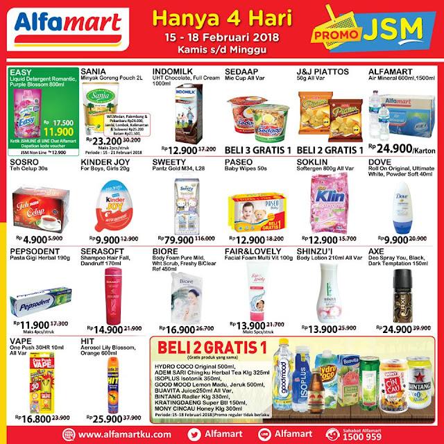 Katalog Promo JSM ALFAMART Akhir Pekan Weekend Periode 15 - 18 Februari 2018