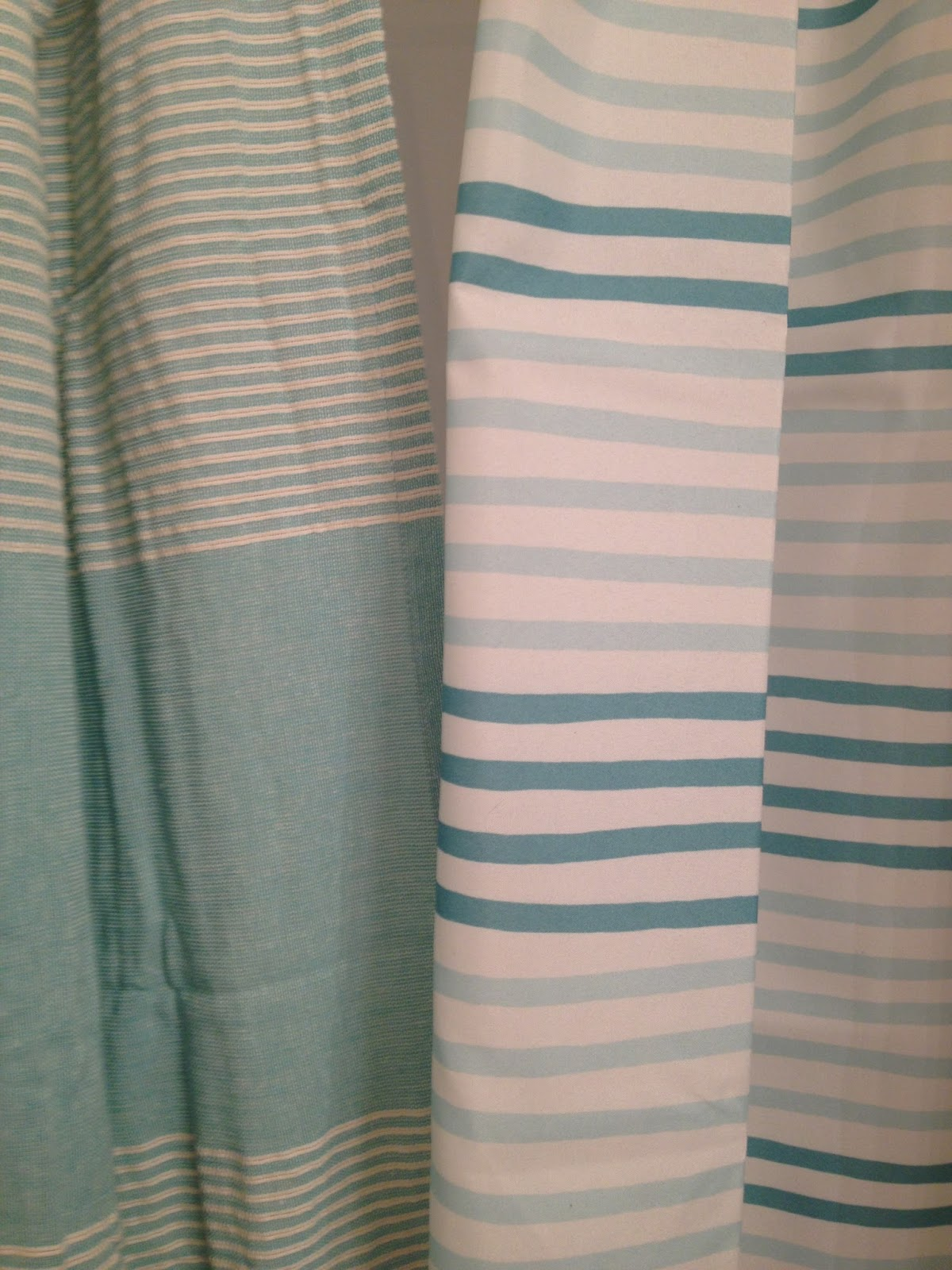 Linen Stripe Shower Curtain K I S S Keep It Simple Sister Striped Aqua Shower Curtains