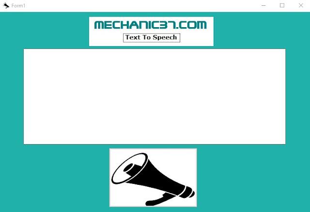 यह एक simple Text to speech converter है