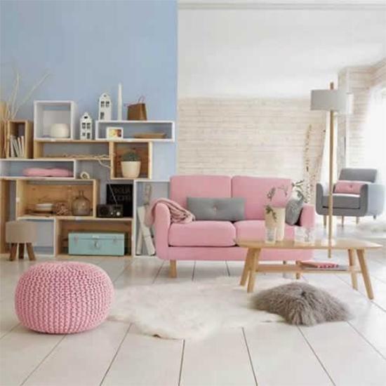 parede azul, living room, sala, azul serenidade, serenity, decoração, decor, pantone 2016