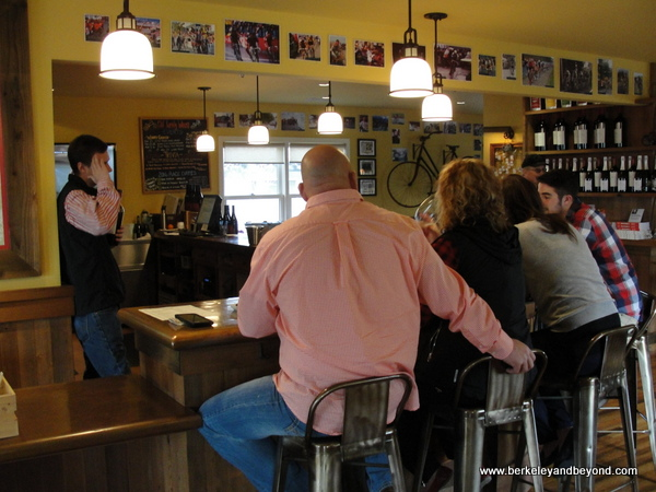 interior of Clif Family Velo Vino Tasting Room in St. Helena, California