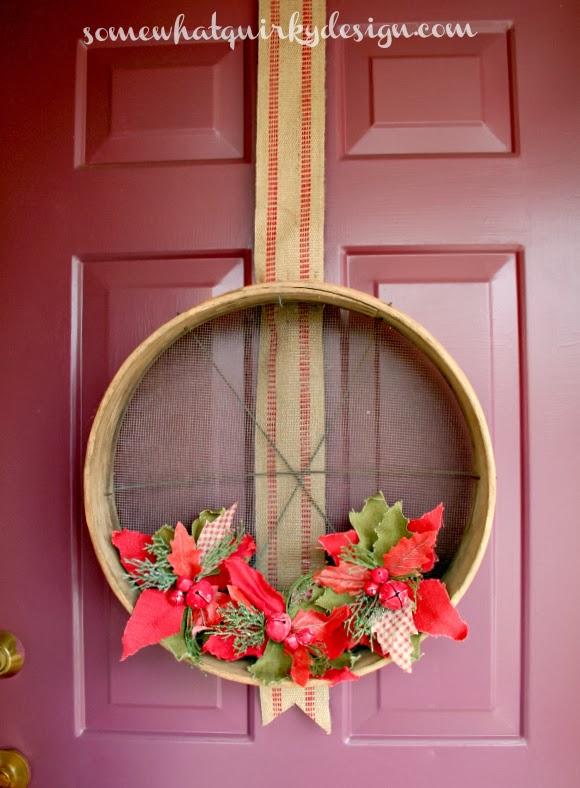 Somewhat Quirky Grain Sieve Wreath