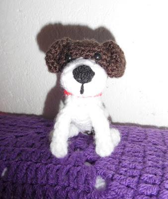 Crochet amigurumi Jack russell dog