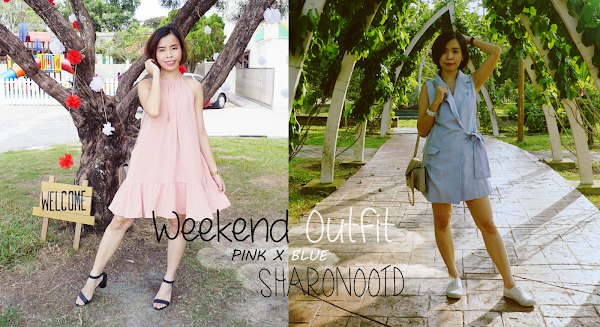 Pink + Blue Weekend Outfit #33