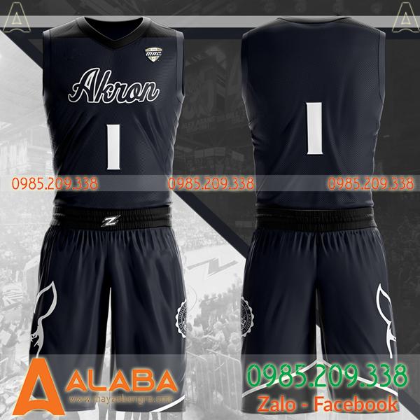 Áo bóng rổ tự thiết kế màu đen xịn