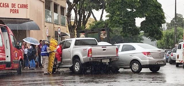 Acidente entre dois veículos em Ivaiporã
