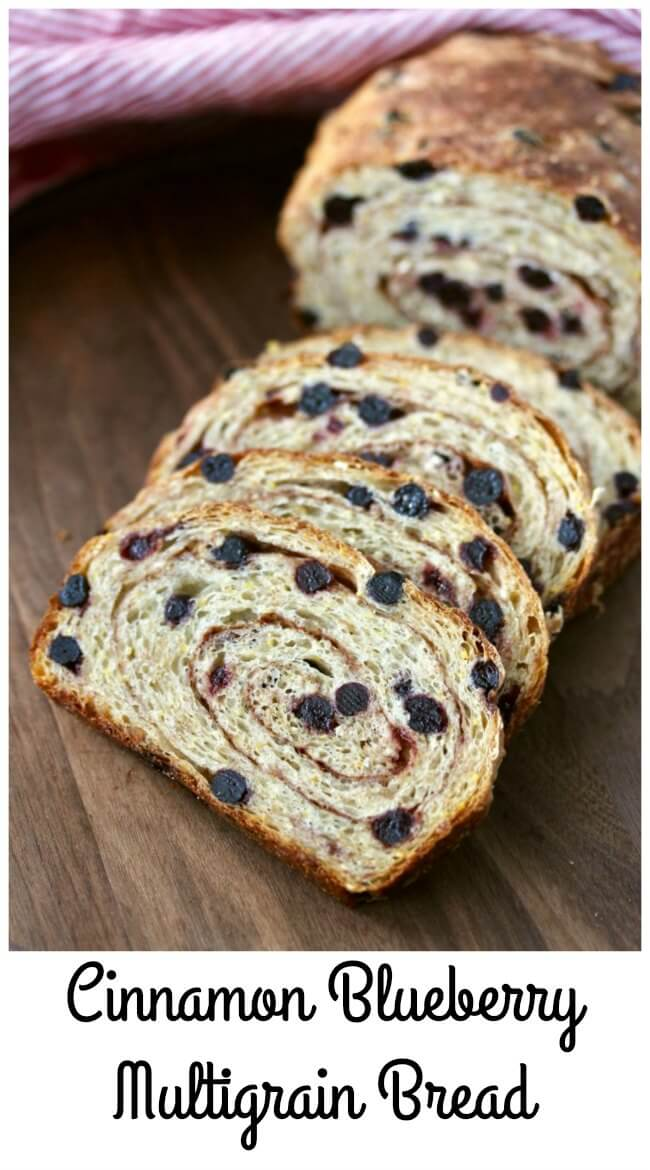 Cinnamon Blueberry Multigrain Bread with brown rice and polenta