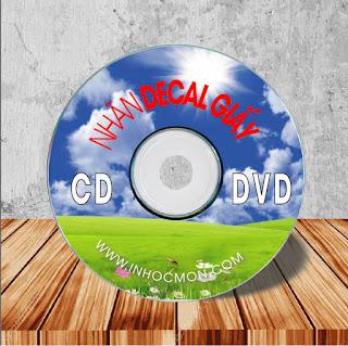 nhãn đĩa cd đĩa dvd