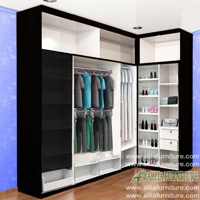 dalam lemari minimalis sudut model six