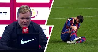 Barcelona boss Koeman reveal Pique avoided injury relapse against Sevilla