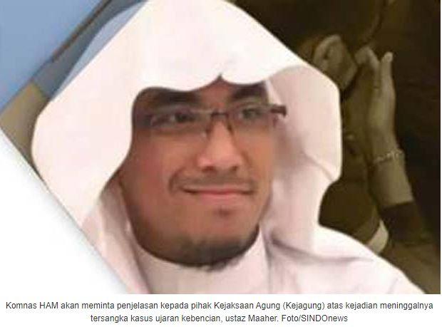 Komnas HAM Kirim Surat ke Kejagung Minta Penjelasan Meninggalnya Ustaz Maaher