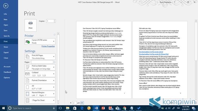 mencetak pdf