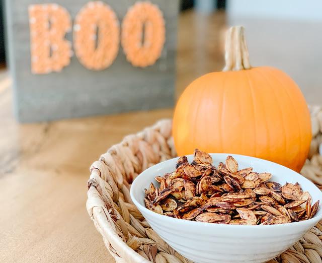 Caramelized pumpkin seeds