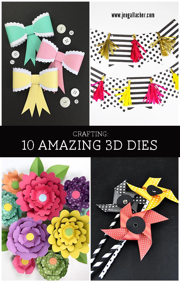 10 Amazing 3D Dies from Echo Park Paper by Jen Gallacher for www.jengallacher.com. #diecutting #jengallacher #echoparkpaper